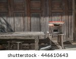 wood texture with natural... | Shutterstock . vector #446610643