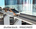 concept of magnetic levitation...   Shutterstock . vector #446614603