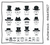 hipster style icon set  ...   Shutterstock .eps vector #446645827