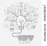 business start up concept... | Shutterstock .eps vector #446658067