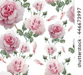 seamless pattern with... | Shutterstock . vector #446673997
