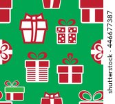 vector colorful christmas gift... | Shutterstock .eps vector #446677387