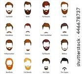 mans trendy haircut types for... | Shutterstock .eps vector #446678737