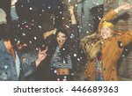 group of friends making party... | Shutterstock . vector #446689363