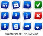 office sticker set. vector...