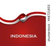 indonesia sport style flag... | Shutterstock .eps vector #446721853