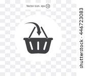 vector shopping basket icon | Shutterstock .eps vector #446723083
