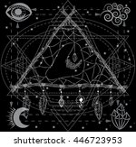 triangle dreamcatcher with... | Shutterstock .eps vector #446723953