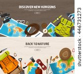 travel tourism vector... | Shutterstock .eps vector #446731273