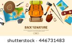 travel tourism vector... | Shutterstock .eps vector #446731483
