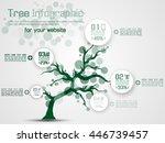 tree infographic modern green | Shutterstock .eps vector #446739457