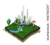 city landscape 3d slice...   Shutterstock . vector #446760247