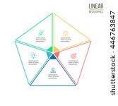 pentagon for infographics....   Shutterstock .eps vector #446763847