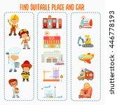 cute cartoon match game about... | Shutterstock .eps vector #446778193