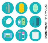 personal hygiene flat icon set  ... | Shutterstock .eps vector #446790223