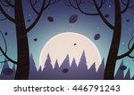 cartoon illustration of night... | Shutterstock .eps vector #446791243