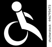 wheelchair vector icon. style... | Shutterstock .eps vector #446795473