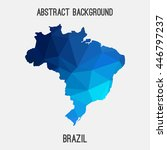 brazil map in geometric...   Shutterstock .eps vector #446797237