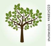 shape of tree. vector... | Shutterstock .eps vector #446814223
