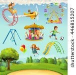 children playground  set of... | Shutterstock .eps vector #446815207