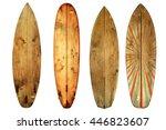 Vintage Surfboard Isolated On...