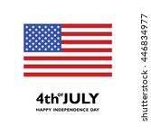 usa flag vector icon. happy... | Shutterstock .eps vector #446834977