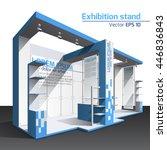 realistic vector. exhibition... | Shutterstock .eps vector #446836843