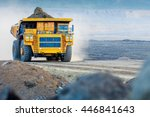 big yellow mining truck | Shutterstock . vector #446841643