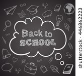 back to school greeting text.... | Shutterstock .eps vector #446862223