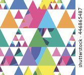 seamless pattern from triangles ... | Shutterstock .eps vector #446865487