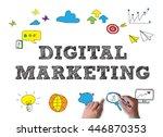 digital marketing businessman... | Shutterstock . vector #446870353
