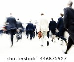 people rushing to work... | Shutterstock . vector #446875927