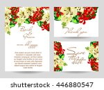 romantic invitation. wedding ... | Shutterstock . vector #446880547