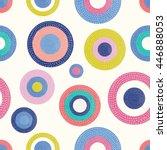 summer polka dot. vintage...   Shutterstock .eps vector #446888053