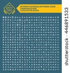 big icon internet database... | Shutterstock .eps vector #446891533