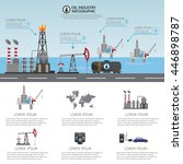 oil industry processing and... | Shutterstock .eps vector #446898787