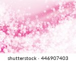 cherry blossoms pink background | Shutterstock . vector #446907403