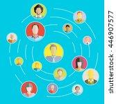 social network  people network... | Shutterstock .eps vector #446907577