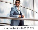 portrait of an handsome... | Shutterstock . vector #446921677
