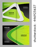 modern bi fold brochure design... | Shutterstock .eps vector #446925637