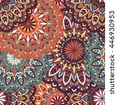 vector seamless pattern with... | Shutterstock .eps vector #446930953