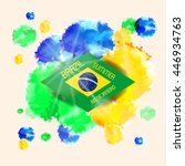 vector brazil world cup summer... | Shutterstock .eps vector #446934763