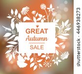 great autumn sale banner.... | Shutterstock .eps vector #446938273