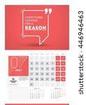 wall calendar planner print... | Shutterstock .eps vector #446946463