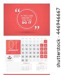 wall calendar planner print... | Shutterstock .eps vector #446946667