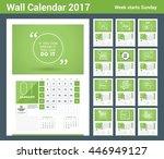 wall calendar planner print... | Shutterstock .eps vector #446949127