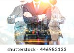 teamwork and partnership... | Shutterstock . vector #446982133