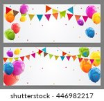 party background baner with... | Shutterstock .eps vector #446982217