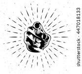 vector design. human hand.... | Shutterstock .eps vector #447018133