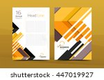 design of annual report cover... | Shutterstock . vector #447019927